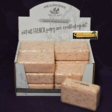 Pre de Provence JUICY POMEGRANATE Case 12x 250 Gram French Soap Bath Shower Bars
