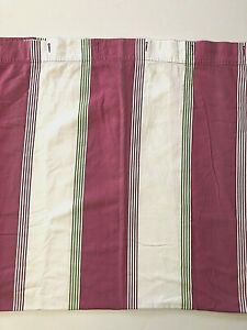 Pottery Barn Kids Shower Curtain 72x72 Striped Pink Green White Bright