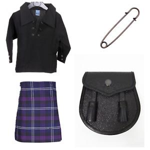 New Scottish Sporran Tartan Kids Full 4 Piece Kilt Set Heritage of Scotland