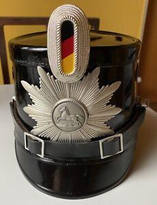 Original Tschako Polizei Niedersachsen mittlerer Dienst Gr. 58 gebraucht 50/60er