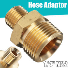 """M22 14mm 1/4"""" Male BSP Pressure Washer Hose Connect Coupling Adaptor For Karcher"""