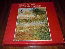 Vintage Jigsaw Puzzle Metropolitan Museum Vincent Van Gogh Flowering Garden EUC