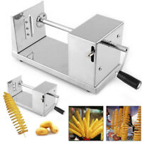 Potato Slicer Vegetable Hand cranking Spiral Potato Chips Tornado Cutter Machine