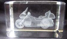 MOTORBIKE Laser 3D Etched Crystal Ornament Gift