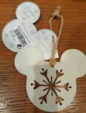 Ornament MICKEY FLOCON PORCELAINE / Flake Porcelain Disneyland Paris
