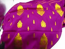 BEAUTIFUL NALLI PURPLE & GOLDEN ZARI TRADITIONAL INDIAN SAREE SARI NEW WITH TAGS