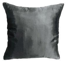 Ja132a (2 Pieces)Silver Gray Poly Taffeta Plain Cushion/Pillow Cover*Custom Size