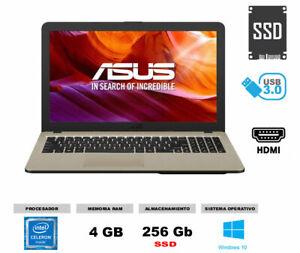 Portátil ASUS 4gb RAM 256gb SSD Win10 ideal colegio deberes teletrabajo rapido