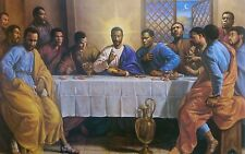 African American Last Supper (Black Jesus) Art Print by Sarah Jenkins, 16x20 in.