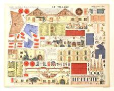 Pellerin Imagerie D'Epinal-No 543 Le Village Grandes Construction Paper Model