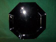 "Arcoroc ~ Octime Black ~ Cake Plate / Chop Plate / Serving Platter 12 1/2"""