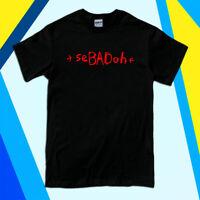 New SEBADOH Band Logo Men's Black White T-Shirt Size S to 2XL