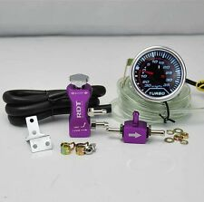 "BOOST CONTROLLER ADJUSTABLE 30PSI PURPLE + 2"" DIGITAL LED -30/35PSI BOOST GAUGE"