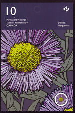 """CANADA 2017 Daisies, booklet BK665 with 10 (2 x5) """"P"""" #2979-2980 pane #2980a MNH"""