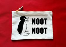 Pingu Noot Meme Inspiré Trousse de Maquillage ou Boite à Crayons Coton Zip Fixer