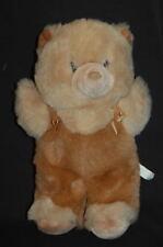 "Brown Tan Teddy Bear Cute 12"" Vintage Korea Plush Stuffed Animal"