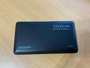 used SICRON10000mAh Portable Power Bank with leather style