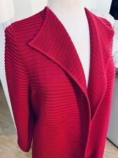 Talbots XLp Crimson Pink Open Front Textured Hem Rib Stretch Cardigan 651
