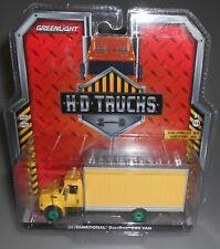 Greenlight Green Machine HD Trucks International DuraStar Box Van Yellow NEW