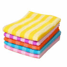Home Kitchen Dining Striped Wash Towel Absorbent Square Microfiber Dishcloths