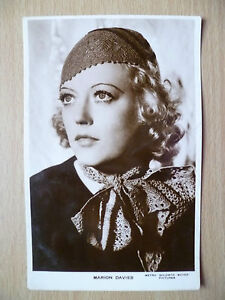 Vintage Film Star Real Photo Postcard- MARION DAVIES, Metro Goldwyn Mayer Pictur
