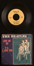 THE BEATLES Love Me Do PS I Love You 45 RPM + Pic Sleeve 1964 Tollie T-9008  VG+