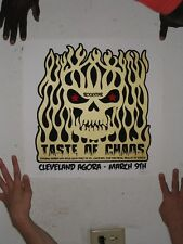 RockStar Poster Rock Star S/N Cleveland March 9 Taste Of Chaos Pierce The Veil