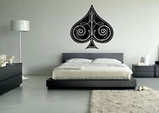 Wall Sticker Mural Decal Vinyl Decor Playing Cards Symbols Ace Of Spades Game