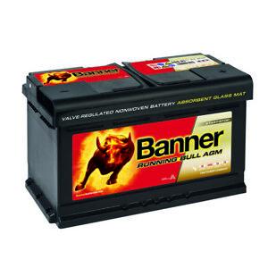 Autobatterie BANNER Running Bull AGM 12V 80AH 58001 Start Stop 1er 61217555718