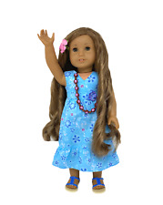 EUC American Girl Kanani Akina, Doll of the Year 2011, Full Meet Outfit Retired