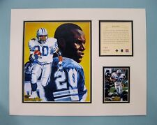 Detroit Lions BARRY SANDERS 1996 NFL Football 11x14 Matted Lithograph Print