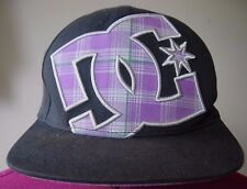 FLEXFIT~DC logo~Men Cap~Star Hat~S-M~black~flat brim~acrylic/wool/spandex