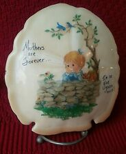 "MOTHER Vintage music box Sand dollar ""How Great Thou Art"" Plays well Girl Kitty"