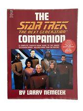 The Star Trek The Next Generation Companion by Larry Nemecek, Softcover. Trekkie