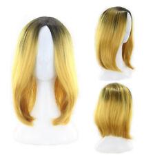 "12"" Ombre Bob Style Wigs Straight Dark Root Shoulder Length Bob Cosplay Wig"