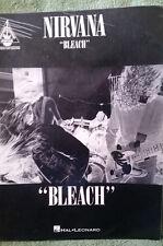 Nirvana Bleach Guitar Song Book 1994 Hal Leonard