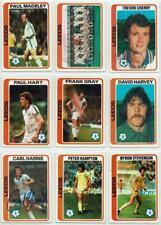 Leeds United signed Topps Football set 1978 1979 Blue backs Pick your card