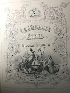 Large antique Atlas, 1855