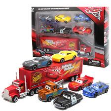Disney Pixar Car No95 Mack McQueen Racer's Truck 6pcs Cars Set Toy Xmas Gift+Box