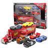 Disney Pixar Car No95 Mack McQueen Racer's Truck 6pcs Cars Set Toy Boys Gift+Box