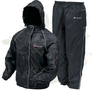 2XL Frogg Toggs Black Womens Sweet T Road Toads Motorcycle Rain Jacket & Pants
