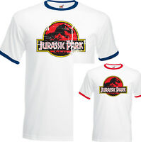 Jurassic Park Mens Retro Movie T-Shirt Classic Dinosaur Movie