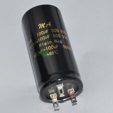 1pc new 85C 500V 100uf + 100uf Can Eelectrolytic Capacitors tube amp electronics