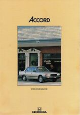 1983 HONDA Accord  Four Door Saloon - 4 Page Car Brochure - NOS