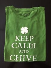Chive Keep Calm And Chive On Clover Irish T Shirt Size Men's Sz M