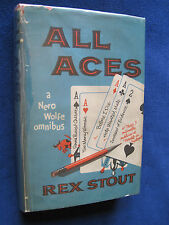 ALL ACES - SIGNED by REX STOUT A Nero Wolfe Omnibus - Book Club Edition in DJ
