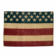 "AMERICANA BURLAP FLAG PLACEMAT 13""x19"" 4 IN A SET"