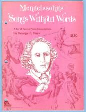 (12) MENDELSSOHN'S SONGS WITHOUT WORDS / 1973 SCHAUM