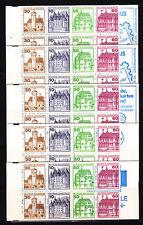 Echte Briefmarkenheftchen aus der BRD (ab 1945) mit Bauwerks-Motiv