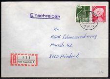 0337# Ebf Einschreiben R-Brief von 7989 Argenbühl vom 21.12.1983